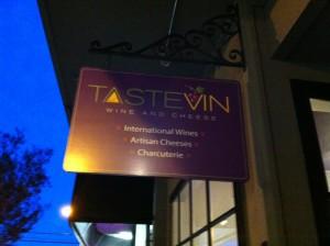 TasteVin sign